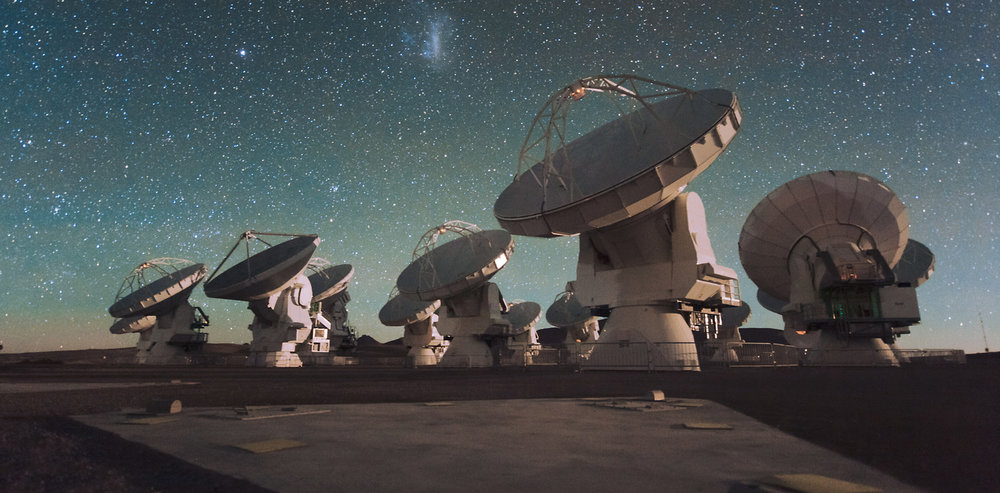 The ALMA telescope is searching. - Image Credit: ESO/C. Malin,CC BY-ND