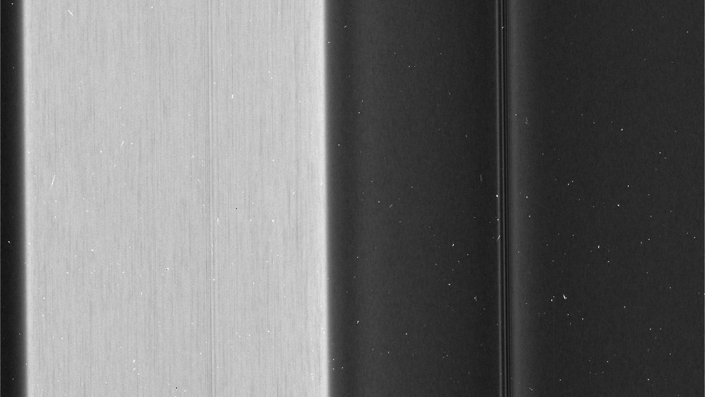"Recent images of features in Saturn's C ring called ""plateaus"" reveal a streaky texture that is very different from the textures of the regions around them. - Image Credits: NASA/JPL-Caltech/Space Science Institute"