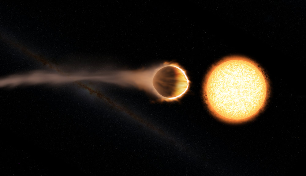 This artist's concept shows hot Jupiter WASP-121b, which presents the best evidence yet of a stratosphere on an exoplanet. - Image Credits: Engine House VFX, At-Bristol Science Centre, University of Exeter