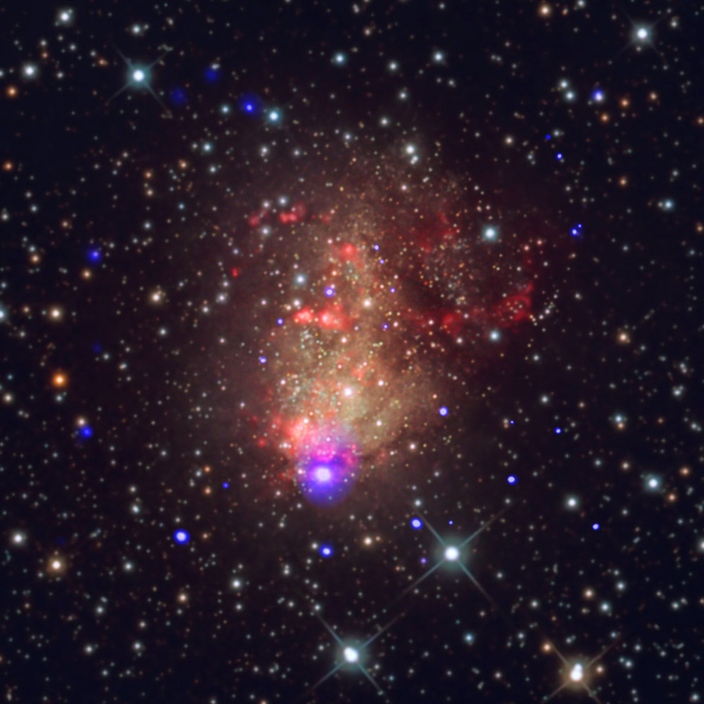 Image credit: X-ray: NASA/CXC/UMass Lowell/S. Laycock et al.; Optical: Bill Snyder Astrophotography