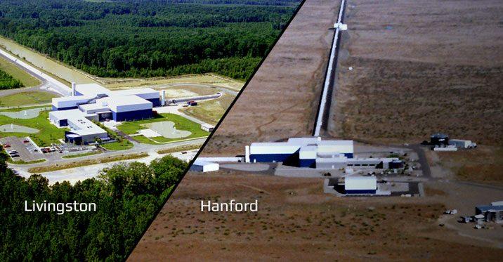 LIGO's two facilities, located in Livingston, Louisiana, and Hanford, Washington. Credit: ligo.caltech.edu