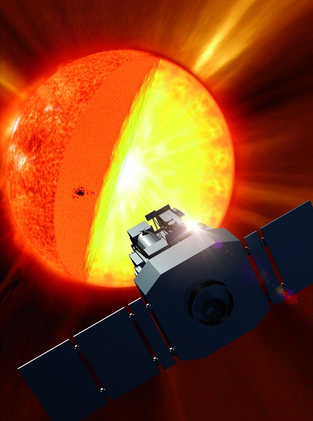Artist's impression of SOHO - Image Credit: NASA