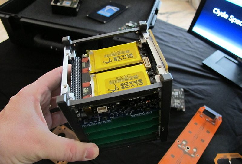 A cubesat structure, 1U in size. -Image Credit: WikimediaCommons/Svobodat