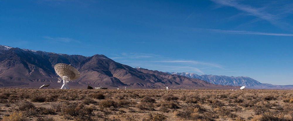 The Owens Valley Radio Observatory (OVRO) – located near Bishop, California – is one of the largest university-operated radio observatories in the world. - Image Credit  WikimediaCommons/Bryan Ungard