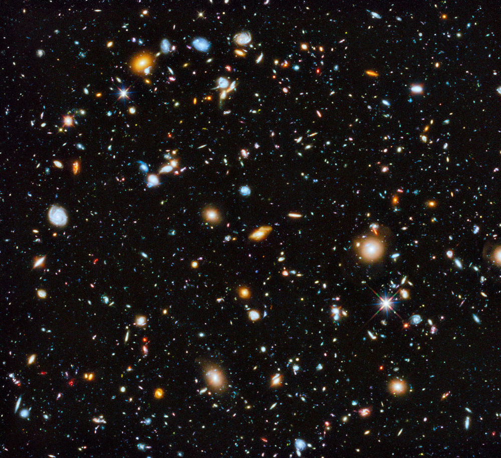 The Hubble Ultra Deep Field seen in ultraviolet, visible, and infrared light. - Image Credit: NASA, ESA, H. Teplitz and M. Rafelski (IPAC/Caltech), A. Koekemoer (STScI), R. Windhorst (Arizona State University), and Z. Levay (STScI)