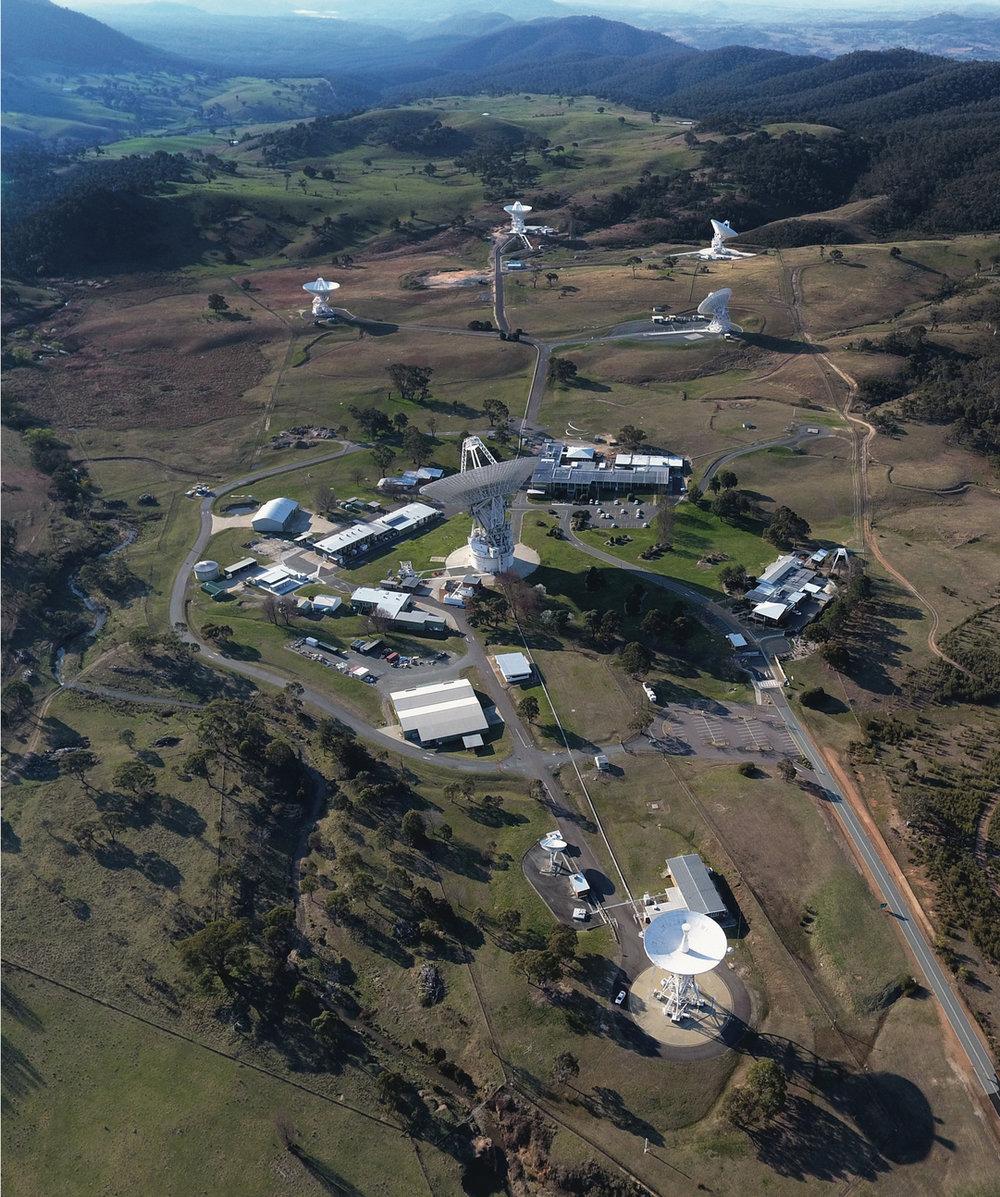 The Canberra Deep Space Communication Complex (CDSCC). - Image Credit: CSIRO