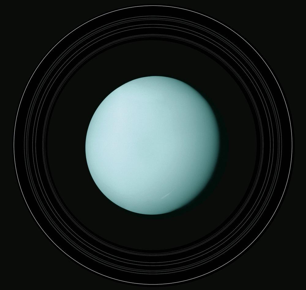 Voyager 2 captures Uranus. - Image Credit: NASA/JPL