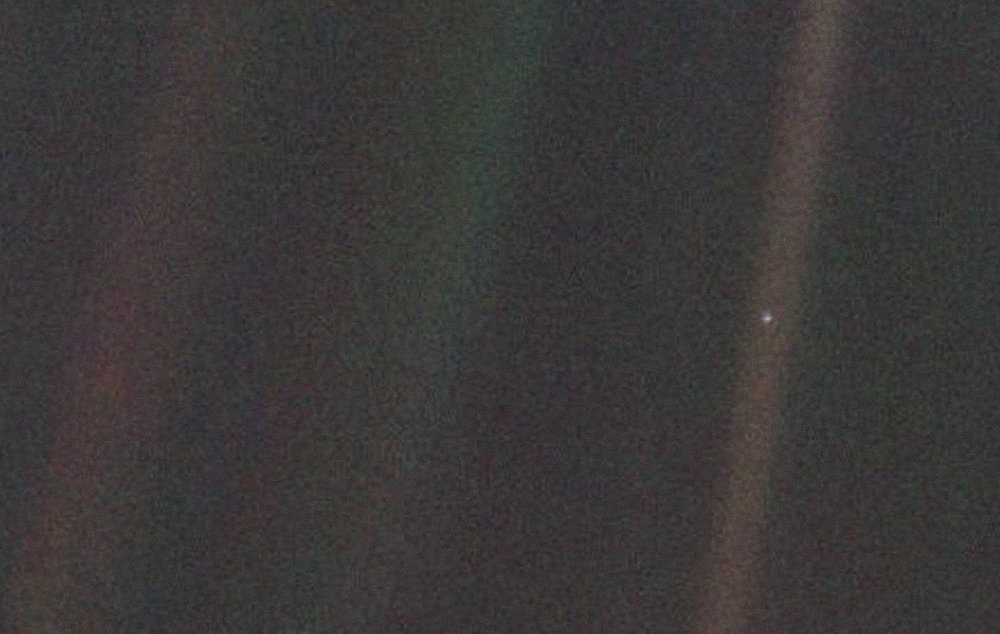 This pale blue dot, less than a pixel in size, is Voyager 1's view of Earth.NASA/JPL