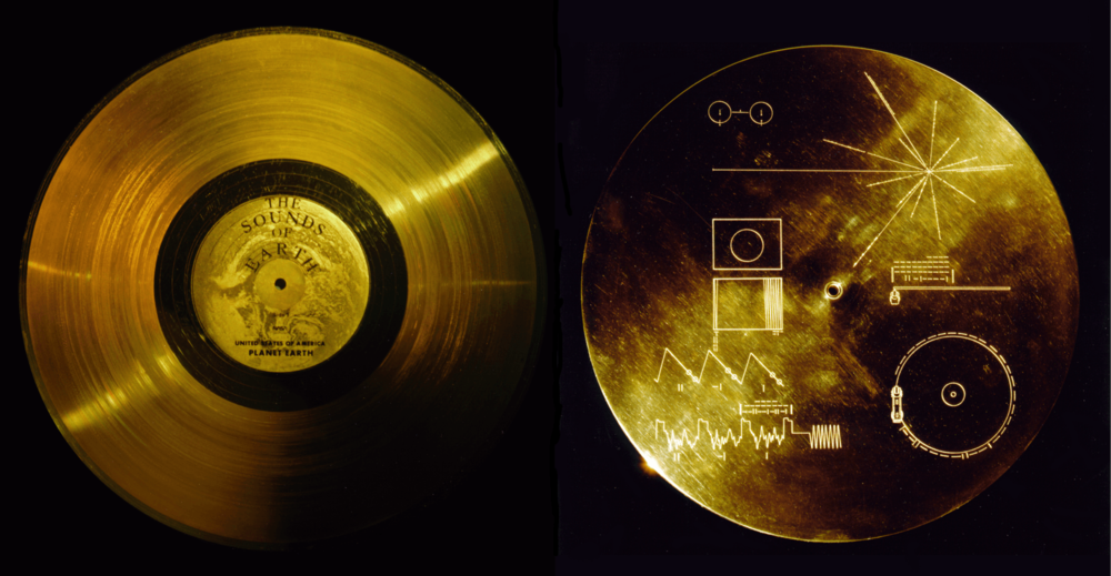 The golden record and instructions on how to play it. - Image Credit: NASA/JPL