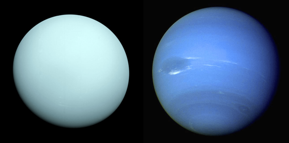 Uranus and Neptune, the Solar System's ice giant planets. - Image Credit: WikimediaCommons