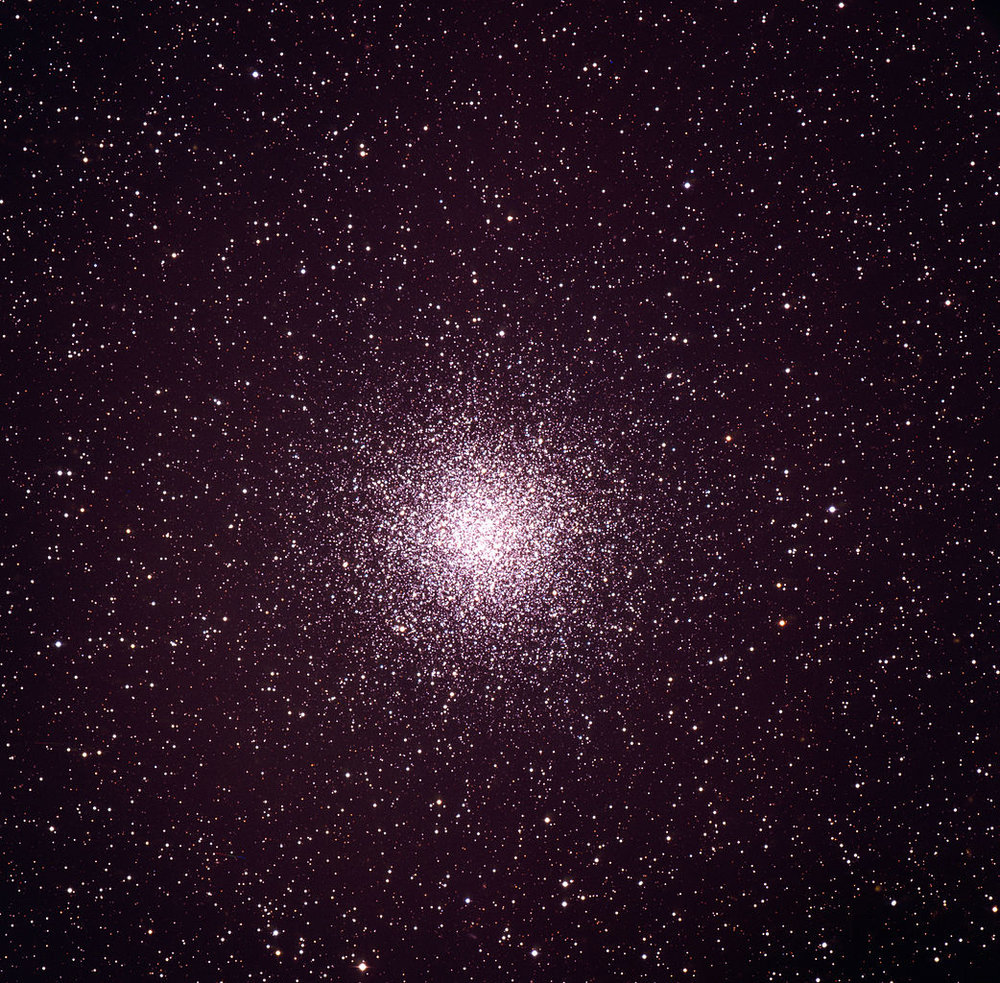 Globular cluster Messier 55 (M55, or NGC 6809) in the constellation Sagittarius, as imaged by the ESO 3.6-metre telescope on La Silla. Release date: 3 December 2009. - Image Credit: ESO