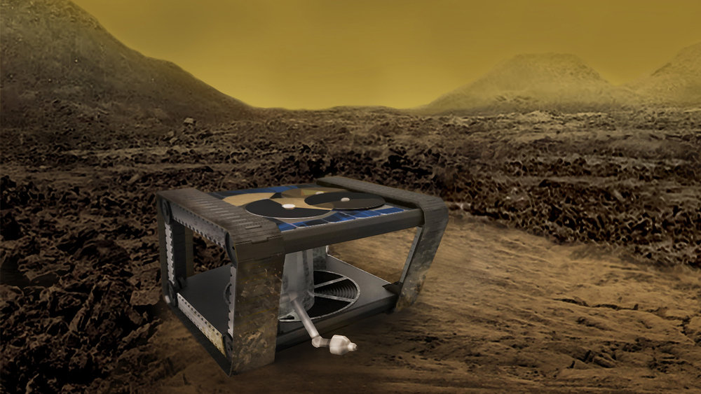 AREE is a clockwork rover inspired by mechanical computers. A JPL team is studying how this kind of rover could explore extreme environments, like the surface of Venus. - Image Credit: NASA/JPL-Caltech