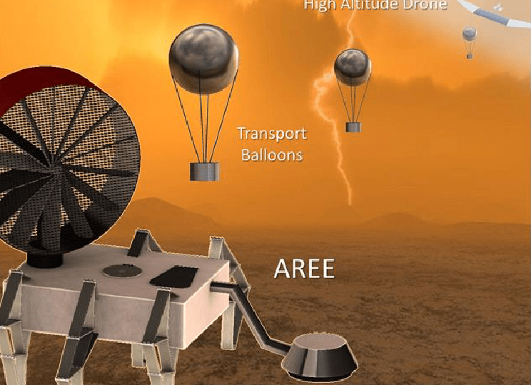 Artist's concept for the Automaton Rover for Extreme Environments (AREE). - Image Credit: NASA/JPL