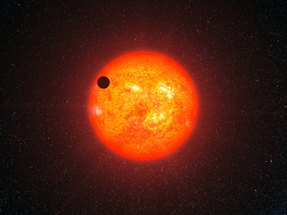 Artist's impression of an extra-solar planet transiting its star - Image Credit:ESO/L. Calçada/WikimediaCommons
