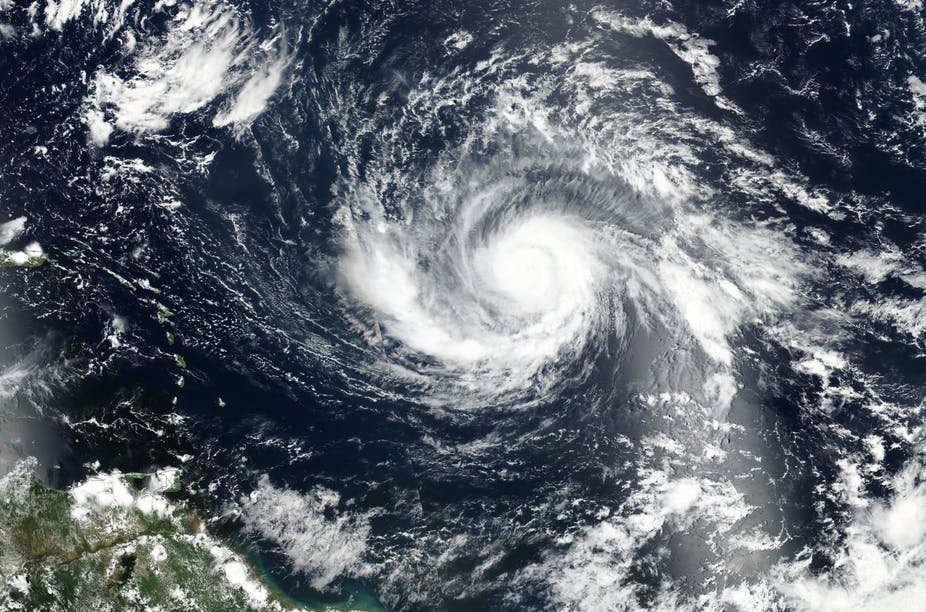 Satellite view of Hurricane Irma. - Image Credit: NASA