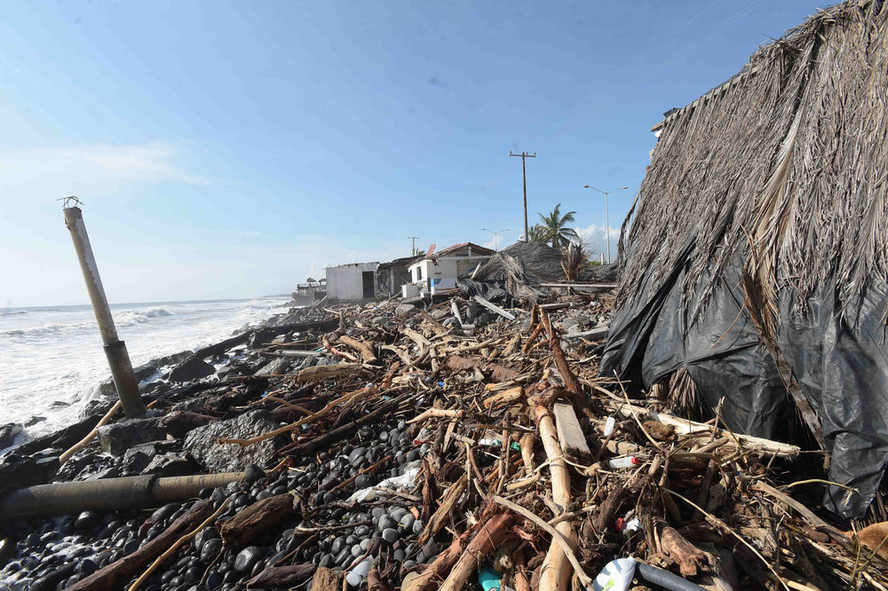 Coastal damage caused by Hurricane Patricia in Colima, Mexico. - Image Credit: Presidencia de la República Mexicana/WikimediaCommons