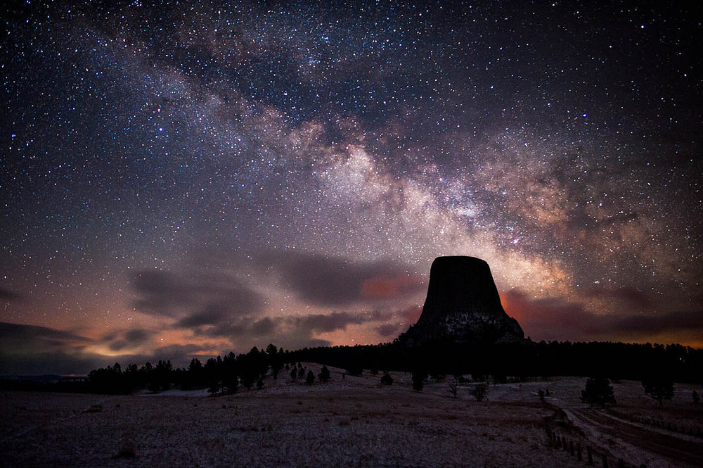 Milky Way over Devils Tower - Image Credit: David Klngham/flickr