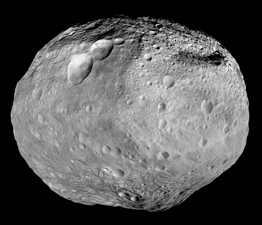 The planetoid Vesta, which was studied by the Dawn probe between July 2011 and September 2012. - Image Credit: NASA