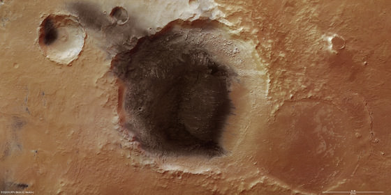 Mars Express' view of Meridiani Planum. - Image Credits: ESA/DLR/FU Berlin (G. Neukum)
