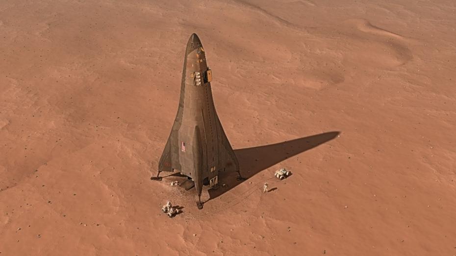 Artist's impression of Lockheed Martin's proposed Mars Lander. - Image Credit: Lockheed Martin