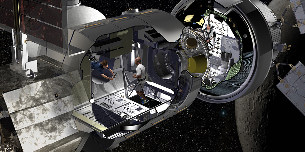 Artist illustration of Habitation Module. - Image Credit: Lockheed Martin