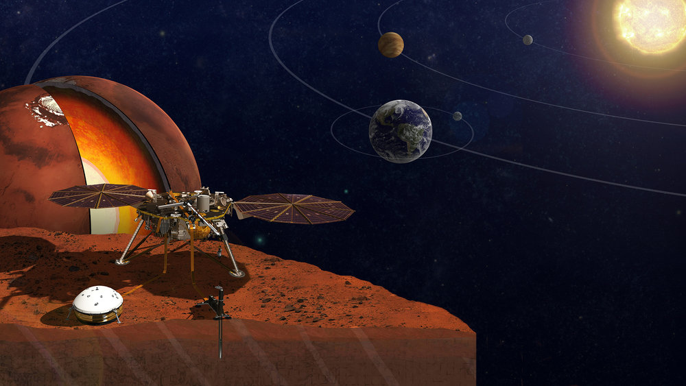NASA's InSight lander will travel to Mars next year. When it does, it will be carrying two microchips bearing the names of members of the public. - Image Credits: NASA/JPL-Caltech