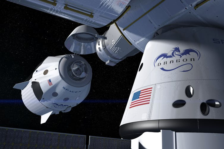 SpaceX Crew Dragon docking with the International Space Station. - Imgae Credit: SpaceX