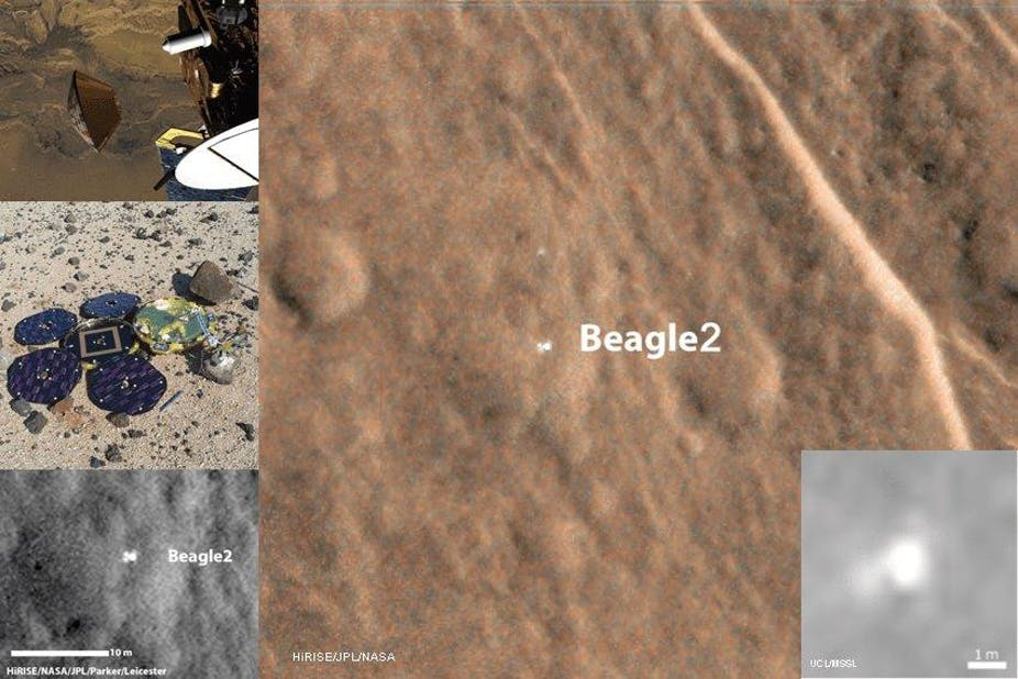 Images of the lost Beagle 2. - Author provided