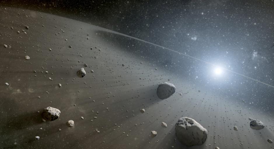 Artist's impression of circumstellar disk of debris around a distant star. - Image Credit: NASA/JPL