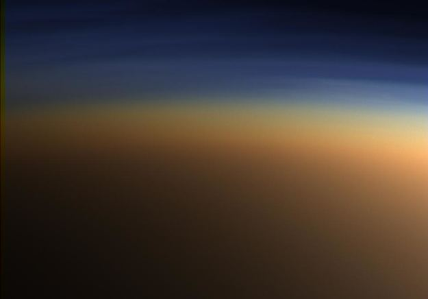 Image of Titan's atmosphere, snapped by the Cassini spacecraft. - Image Credit: NASA/JPL/Space Science Institute