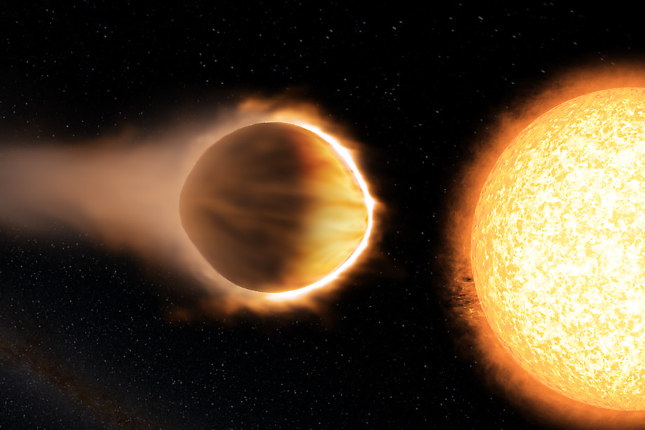 Artist's concept of the hot Jupiter WASP-121b, which presents the best evidence yet of a stratosphere on an exoplanet – generated using Engine House VFX. - Image Credit: Bristol Science Centre/University of Exeter