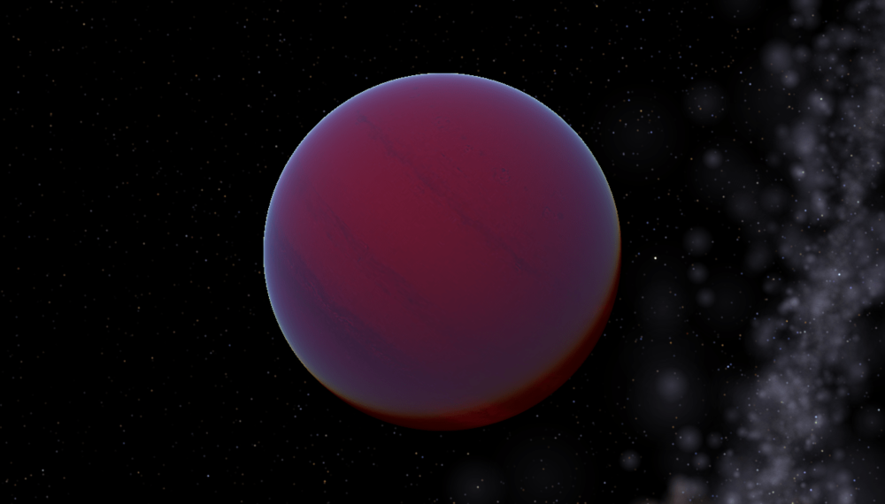An artist's conception of a T-type brown dwarf. -Image Credit: Tyrogthekreeper/Wikimedia Commons.