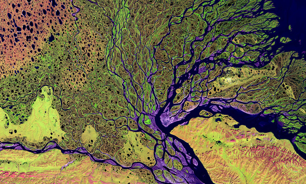 Image Credit: The Lena River Delta in Siberia/LandSat NASA