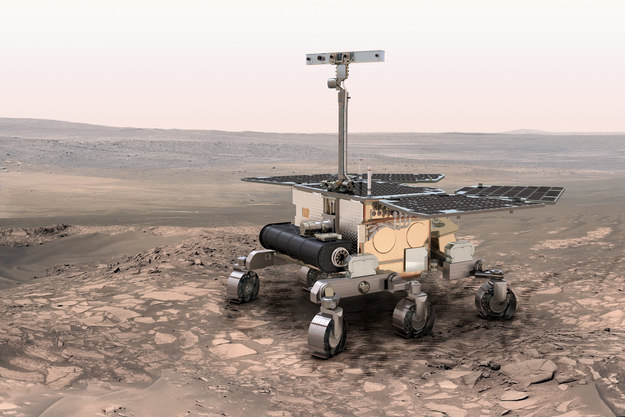 Illustration of the ESA Exomars 2020 Rover, which will explore the Red Planet in search for signs of ancient life. - Image Credit:ESA