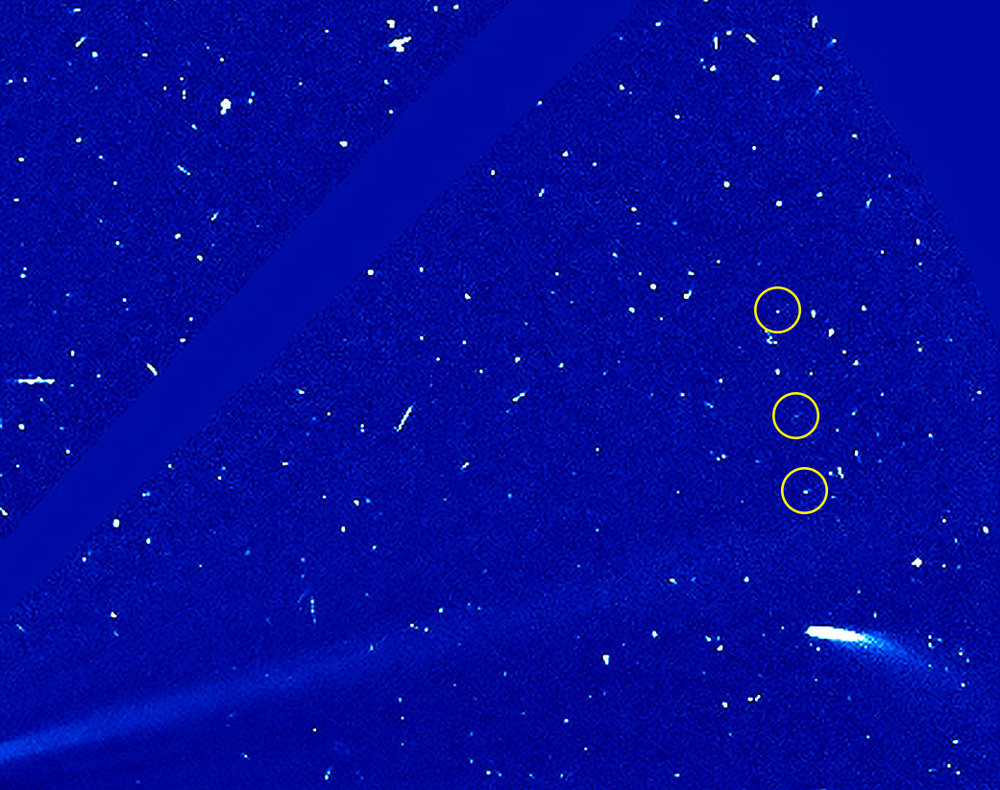 Observations of a third fragment indicate comet 96P is still evolving. - Image Credits: ESA/NASA's Goddard Space Flight Center/SOHO/Steele Hill