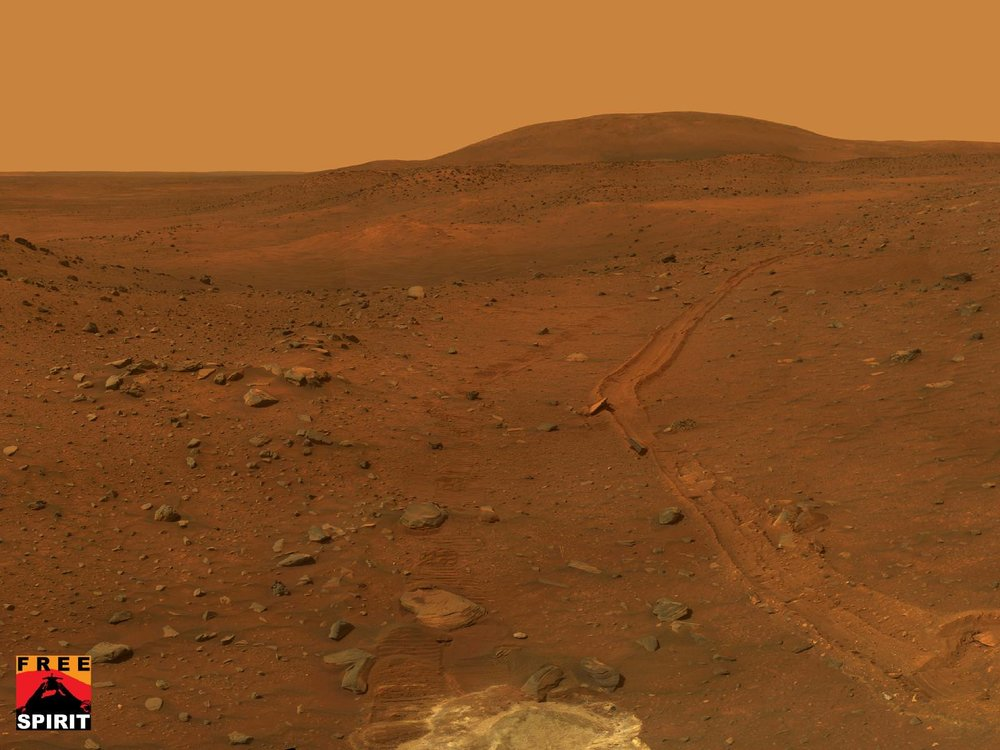 Image of Martian soils, where the Spirit mission embedded itself. Credit: NASA/JPL