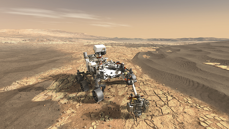 Future missions could determine the presence of past life on Mars by looking for signs of extreme bacteria. - Image Credit: NASA.