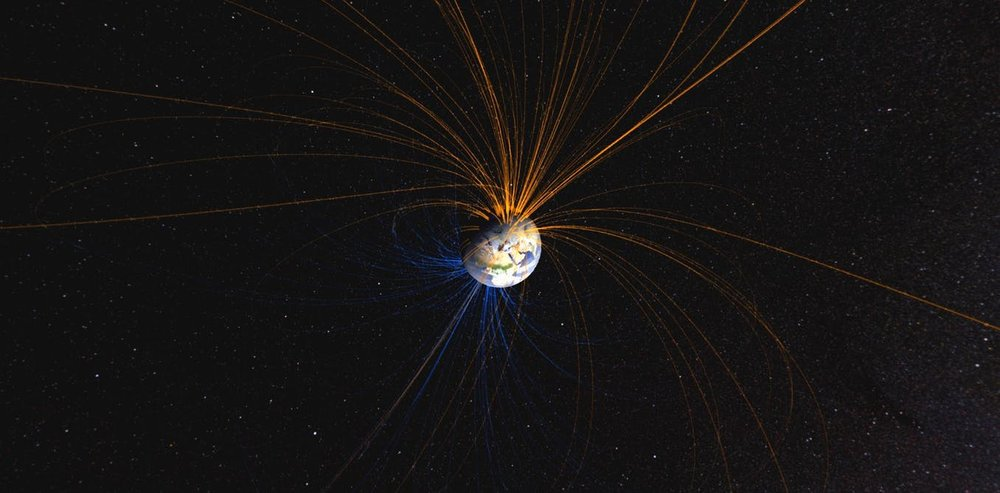 The Earth has a powerful magnetic field. - Image Credit: NASA