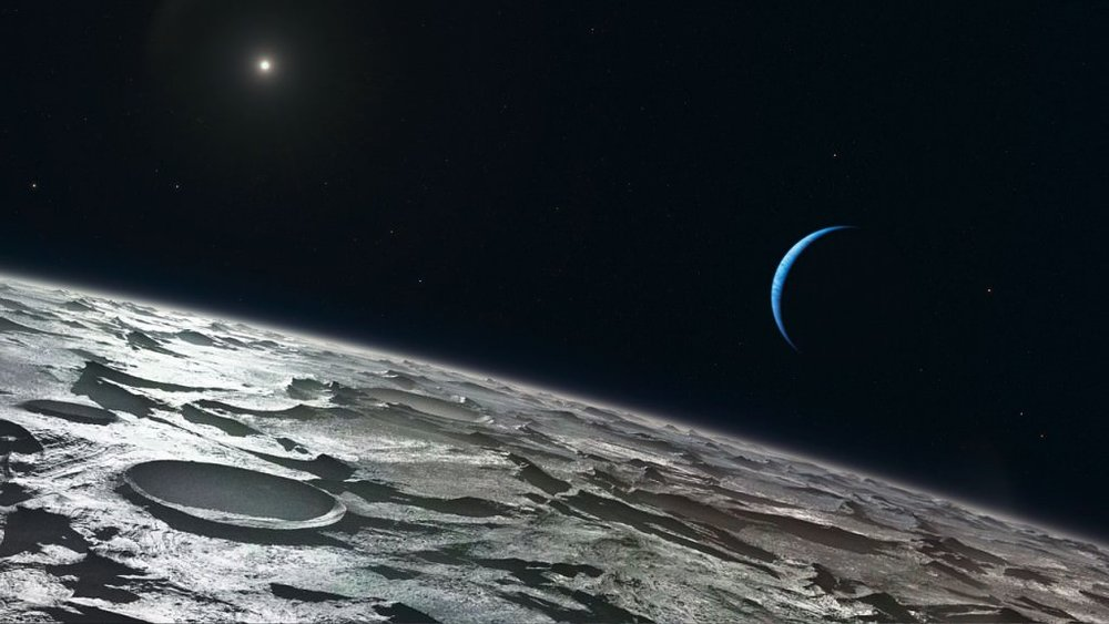 Artist's impression of what the surface of Triton may look like. - Image Credit: ESO