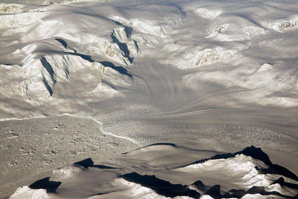 Glaciers seen during NASA's Operation IceBridge research flight to West Antarctica on Oct. 29, 2014. - Image Credit: NASA/Michael Studinger