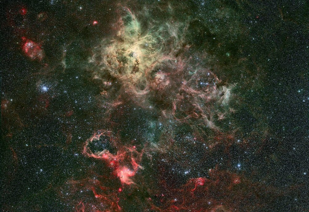 A new study from the University of Edinburgh suggests that life could be distributed throughout the cosmos by interstellar dust. - Image Credit: ESO/R. Fosbury (ST-ECF)
