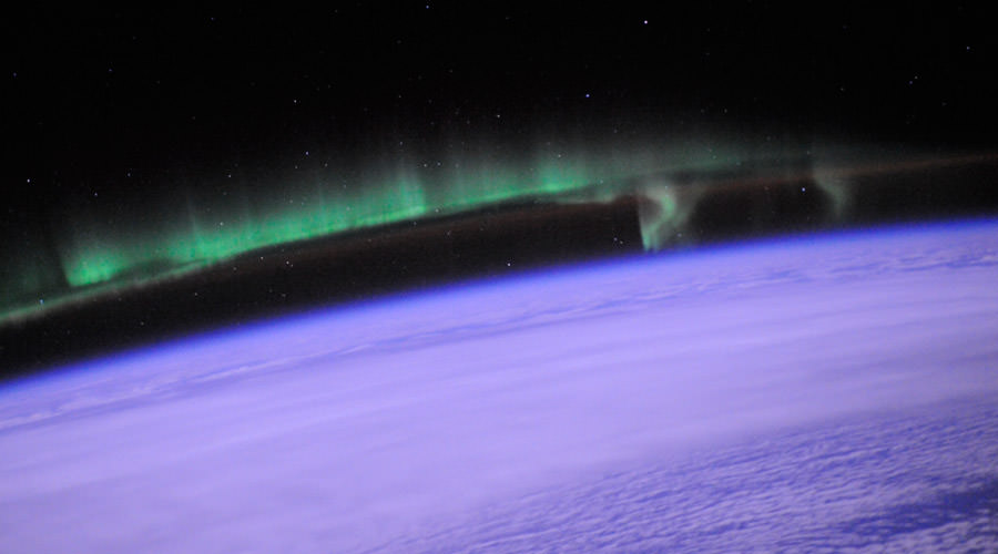 Photo of an aurora taken by astronaut Doug Wheelock from the International Space Station on July 25th, 2010. Credit: Image Science & Analysis Laboratory, - Image Credit: NASA Johnson Space Center