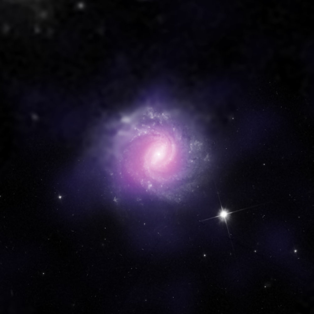 This galaxy, called IC 3639, also contains an example of an obscured supermassive black hole. - Image Credit: ESO/NASA/JPL-Caltech/STScI
