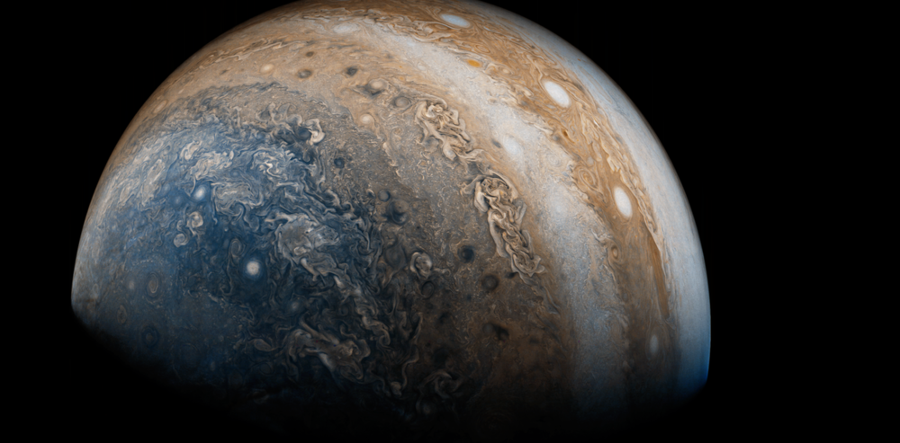 Jupiter seen by Juno. - Image Credit: Justin Cowart/Flickr,  CC BY-SA