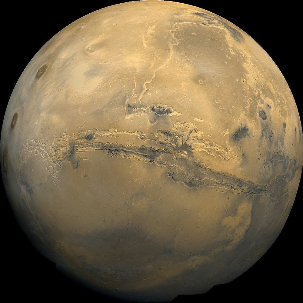 "Mars, according to multiple studies, could still support life, raising issues of ""planetary protection"". - Image Credit: NASA / USGS via Wikimedia Commons"