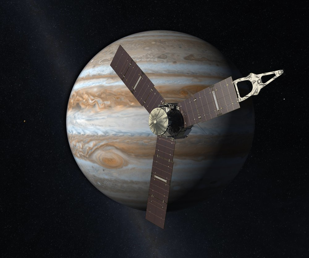 NASA's Juno spacecraft launched on August 6, 2011 and should arrive at Jupiter on July 4, 2016. - Image Credit: NASA / JPL