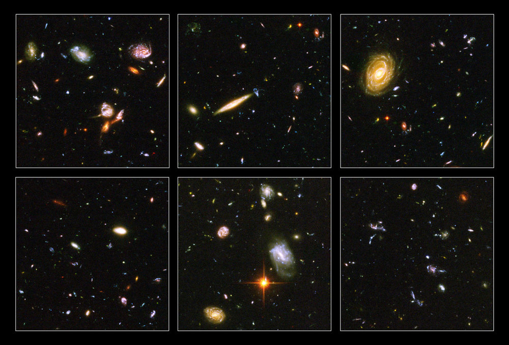Images from the Hubble Ultra Deep Field (HUDF). Credit: NASA/ESA/S. Beckwith (STScI)/HUDF Team