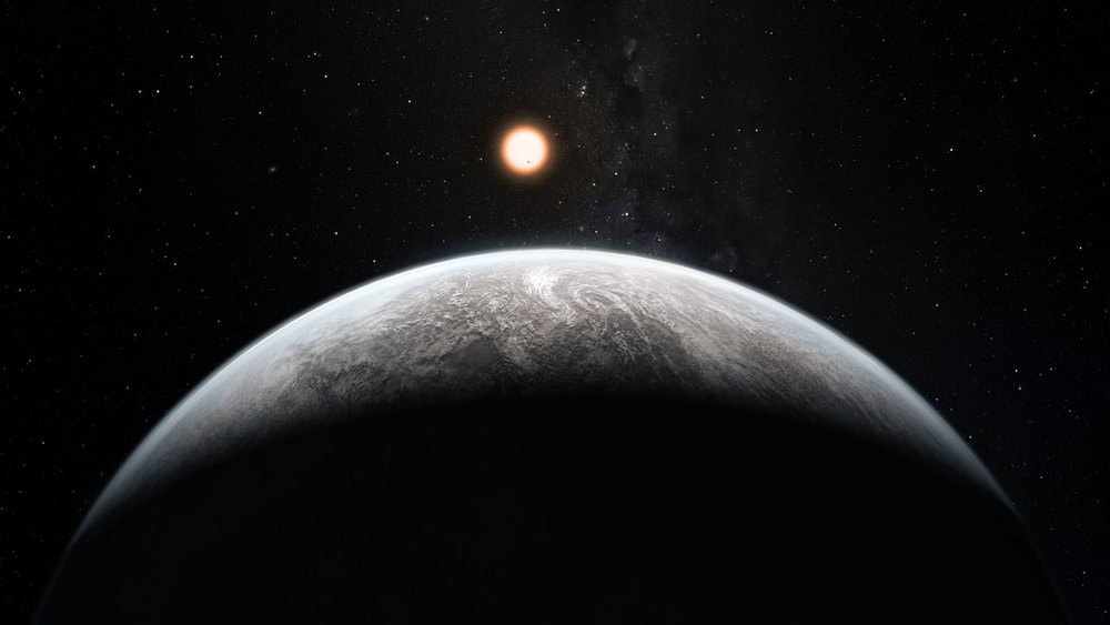 Artist's impression of a Super-Earth planet orbiting a Sun-like star. - Image Credit: ESO/M. Kornmesser