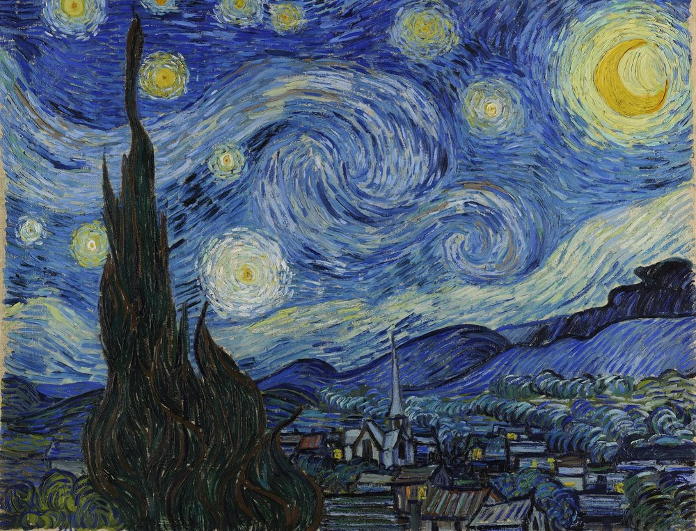Van Gogh's The Starry Night - Source:  Wikimedia Commons