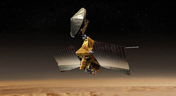 Artists concept of the Mars Reconnaisance Orbiter (MRO). - Image Credit: NASA/JPL